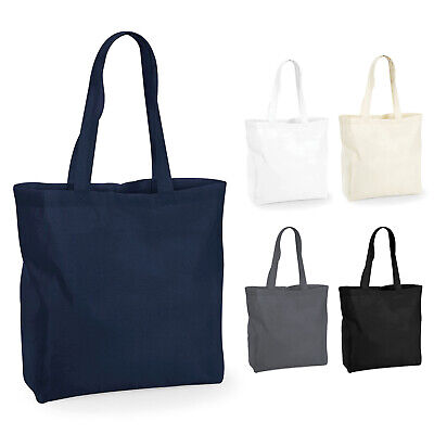 Westford Mill Plain Large Wide Maxi Bag For Life Grocery Shopping Shoulder Tote • 5.50£