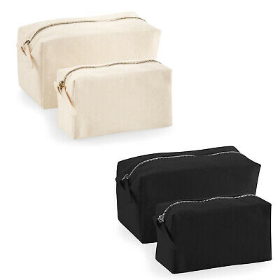 £5 • Buy Westford Mill Plain Canvas Makeup Travel Cosmetic Wash Bag Accessory Case