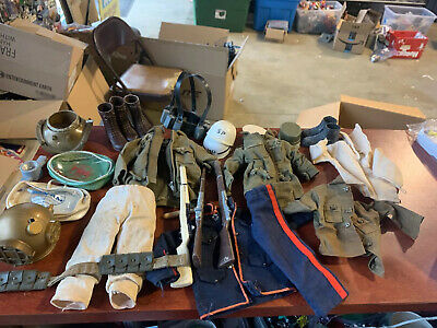 $ CDN166.66 • Buy Vintage 1960s GI Joe Accessory Lot Clothes Weapons Hats Shoes Foot Locker Rare