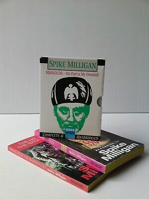 SPIKE MILLIGAN MUSSOLINI His Part In My Downfall AUDIO BOOK & 2 Paperback Books! • 9.99£