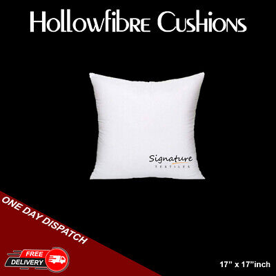 Cushion Pads 17  X 17  Inches Hollowfiber Inserts Inner Scatter Sofa Throw Couch • 4.99£