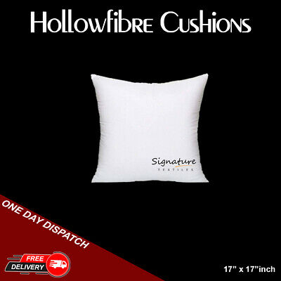 £7.50 • Buy Cushion Pads 17x17 Inches Hollowfiber Inserts Inner Scatter Sofa Throw Couch New