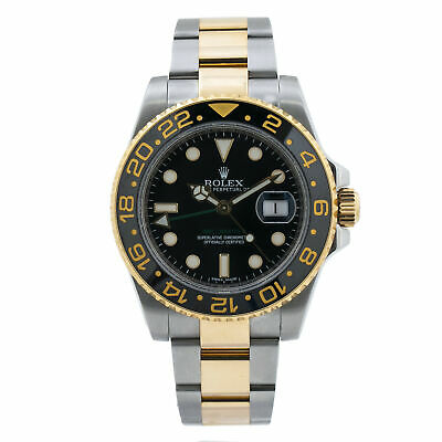 $ CDN18438.40 • Buy Rolex GMT-Master II 116713LN 18k & SS Black Ceramic Auto Men Watch 40mm W/P 2015