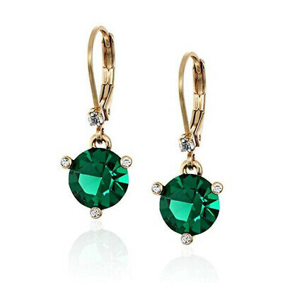 $ CDN42.66 • Buy Nwt Kate Spade Rise And Shine Small Round Lever Back Earrings $48 Emerald Green