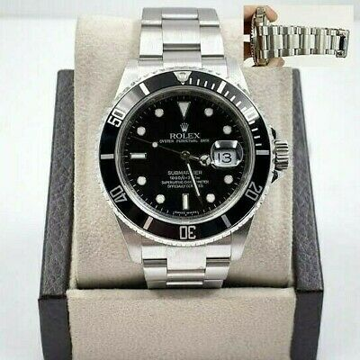 $ CDN11619.13 • Buy 16610 Rolex Submariner Black Dial Stainless Steel Rehaut 2008