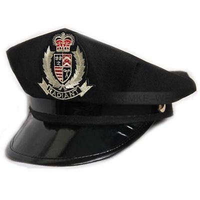 Octagon Yacht Captain Skipper Sailor Boat Police Sheriff Hat Cap Party Costume • 6.90£