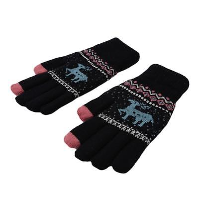 Warm Glove Knitted Gloves Mittens Outdoor Knitted Glove Full Finger Gloves T3 • 3.29£