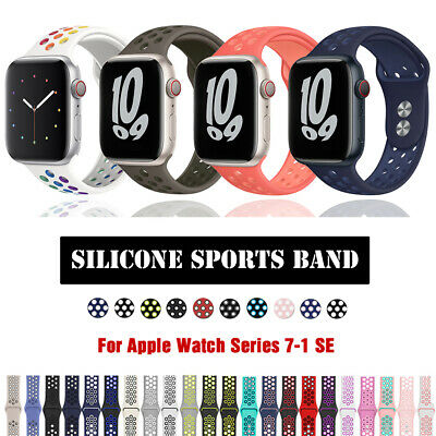 $ CDN7.50 • Buy For Apple Watch 40mm 44mm Silicone Sport Band Strap IWatch Series 6 5 4 3 2 1 SE