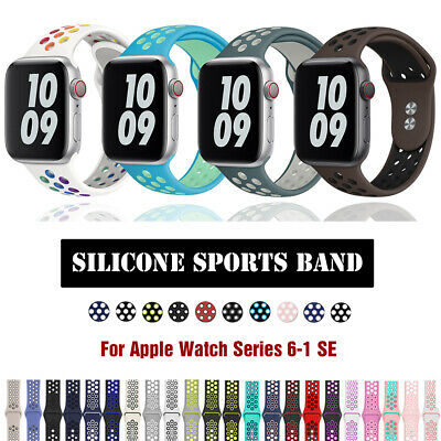 $ CDN8.02 • Buy Silicone IWatch Band Sport Strap For 38/40/42/44mm Apple Watch Series 6 5 4-1 SE