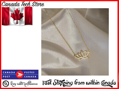 $ CDN7.99 • Buy Fashion Gold Color Lotus Flower Pendant Necklace Gift Wedding Party Women