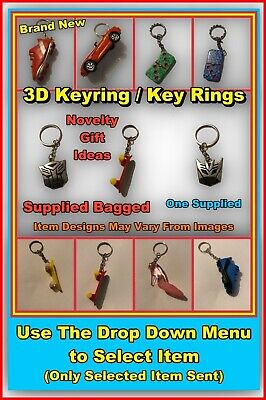 £4.49 • Buy 3D Keyring / Key Rings - Transformers - 3D Novelty Gifts + More (Select Item)