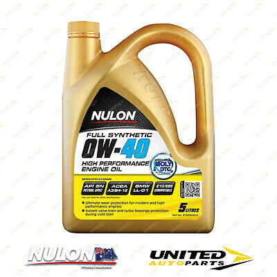 AU83.59 • Buy NULON Full Synthetic 0W-40 High Performance Engine Oil 5L For AUDI A5