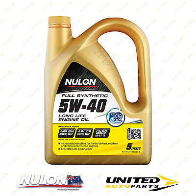 AU56.99 • Buy NULON Full Synthetic 5W-40 Long Life Engine Oil 5L For MERCEDES-BENZ C200K