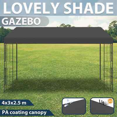 AU267.99 • Buy VidaXL Wall-mounted Gazebo 3x4m Anthracite Fabric Outdoor Canopy Party Tent