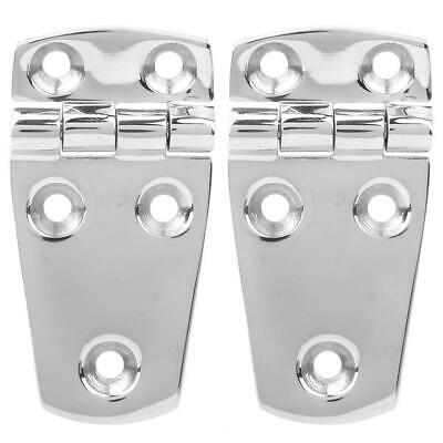 2Pcs 316 Stainless Steel Boat Marine Door Compartment Hinge 5-Holes 76 X 38mm • 7.04£