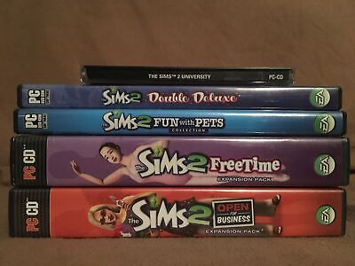 £21.24 • Buy Sims 2 Double Deluxe PC & Expansion Packs: University, Pets, Free Time, Business