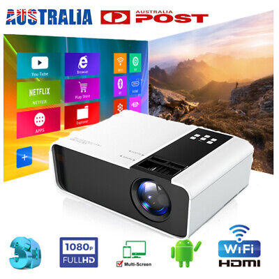 AU119.99 • Buy 2021 HD 1080P Wifi Bluetooth LED Movie Projector Andriod Home Theatre HDMI USB