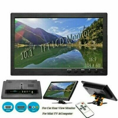 10.1  Security Monitor HD LCD Computer Display HDMI/AV/VGA Remote Control • 52.99£