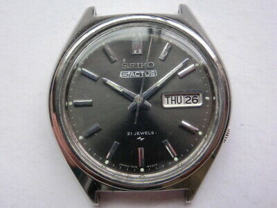 $ CDN231.16 • Buy Seiko5 1970' Vintage Mens Watch 5 ACTUS Automatic 7070 Black Day Date Case 38mm