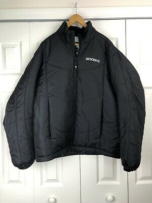 $85 • Buy Descente Mens Puffer Quilted Black Jacket US Size XXL Pockets