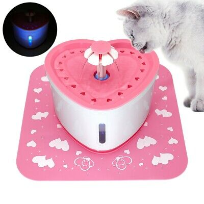 £23.99 • Buy Pet Drinking Water Fountain Electric Cat Dog Automatic Bowl Filters Pump &Mat 2L