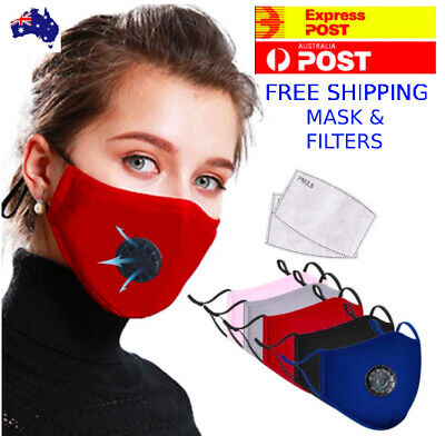 AU6.99 • Buy Washable Face Mask Reusable Respirator Anti Pollution Cotton Mouth PM 2.5 Filter