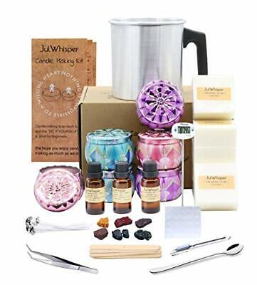 Complete Candle Making Kit Supplies,  Make 6 Large Scented Soy Candles, Soy Wax, • 63.99£