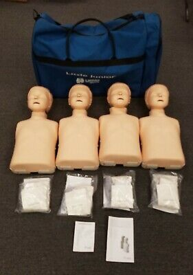 4 Laerdal Little Junior Resusci EMT Q-CPR  Child Training Mannequin Manikin +Bag • 324.89£