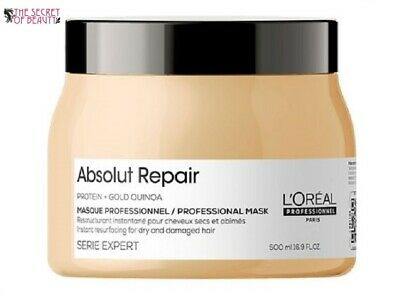 L'Oreal Serie Expert Absolut Repair 500ml Mask With Gold Quinoa Protein /Damaged • 19.99£