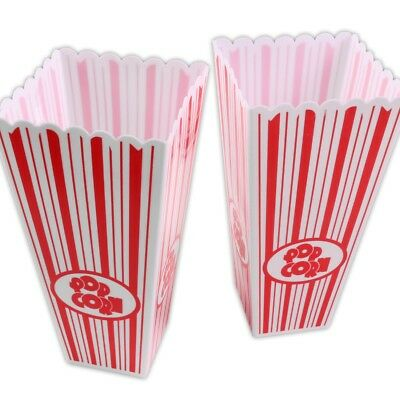 2x STRONG POPCORN BOXES Plastic Cinema Movie Theatre Holders Party Film Night • 11.99£