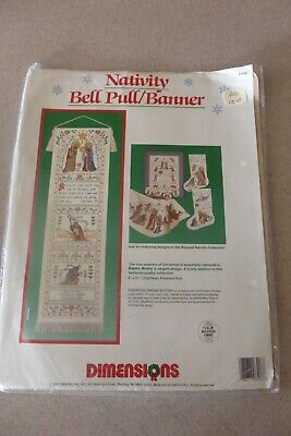 Dimensions Blessed Nativity Bell Pull  Banner Kit Cross Stitch 8406 Christmas • 20.25£