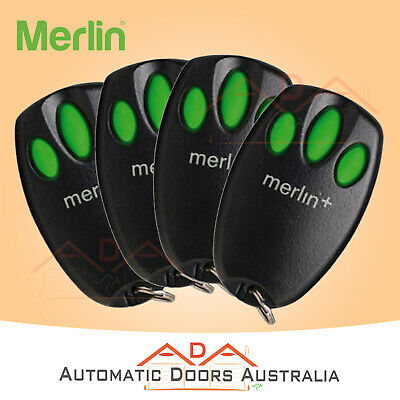 AU119.60 • Buy 4 X C945 MERLIN GARAGE REMOTE - MERLIN MT230,MT5580,MT60,MT800,MT600,MT1000,MGS