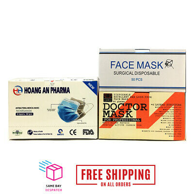 AU49.99 • Buy MEDICAL/SURGICAL/DOCTOR FACEMASK 4 PLY ANTI DUST PREVENT BACTERIA DISEASES 50pcs