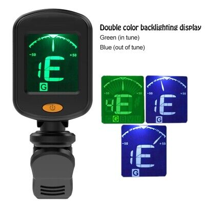 $ CDN6.15 • Buy Chromatic Digital Clip-On Electric Tuner For Guitar Bass Ukulele Violin X 1