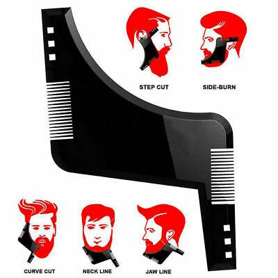UK Beard Shaping Tool Styling Template Shaper Stencil Trimming Face Comb • 2.95£