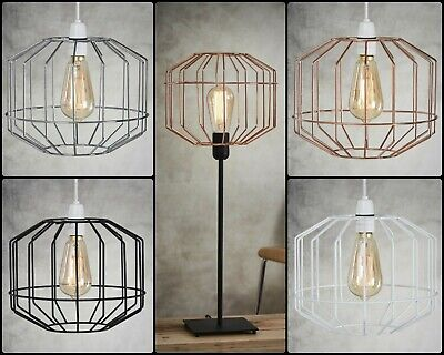 £14.79 • Buy Wire Cage Ceiling Pendant Light/Lamp Shade Metal Easy Fit Retro Kitchen Island