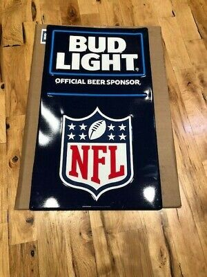 $ CDN32.67 • Buy New NFL Bud Light Beer Metal Sign Official Beer Sponsor 20.5 X35.5  Poster Size