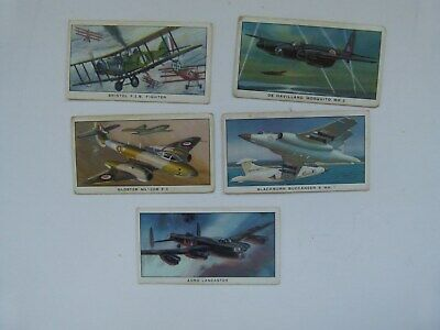 HISTORY OF BRITISH MILITARY AIRCRAFT - 5 X  KELLOGGS CARDS  • 1£