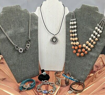 $ CDN47.56 • Buy Lia Sophia Jewelry Lot 9 Pieces Necklace Bracelet Ring Great Condition