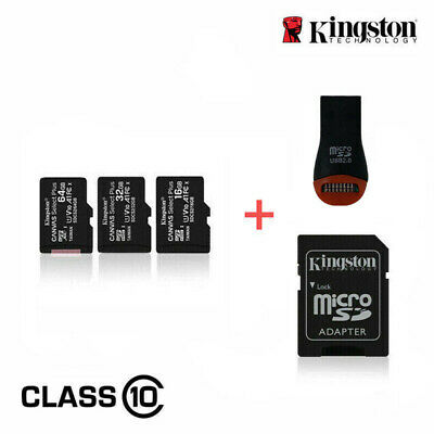 $7.50 • Buy Kingston Micro SD Card Class 10 16GB 32GB 64GB 128GB For Phones With USB Adapter