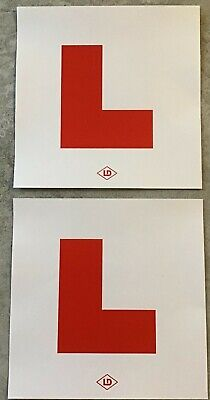 Learner L Plates For Motorcycle Or Scooter  Self Stick  Motorbike L Plate Set • 3.35£