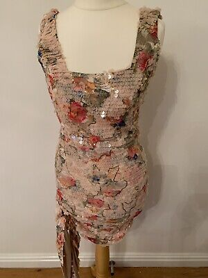 £30 • Buy Multi Coloured Sequin Party Dress Size Small. Like The Dolls House Fashion