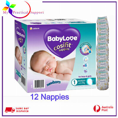 AU17 • Buy BabyLove Cosifit Nappies Newborn Up To 5kg -12