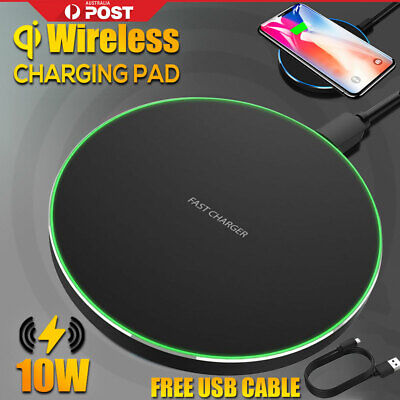 AU7.99 • Buy Qi Wireless Charger Pad Mat Receiver For IPhone 11 XS XR 8 Samsung S10 OZ