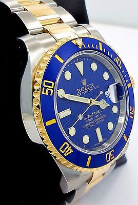 $ CDN17715.72 • Buy ROLEX Submariner 116613 2Tone 18K Yellow Gold/Steel Blue Ceramic Watch Mint