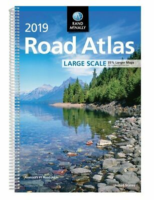 2019 Rand McNally Large Scale Road Atlas USA (Spiral-bound, 2018) • 14.97£
