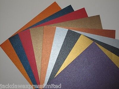 £6.56 • Buy 18 X A4 2-Sided Pearlescent Shimmer Paper 125gsm - 9 Colour Mixed Pack AM379