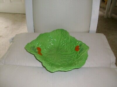 Beswick Pottery Fruit Bowl Green With Small Chip Under One End • 25£