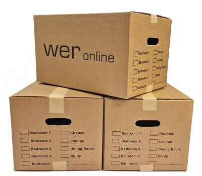 £14.20 • Buy 10 LARGE MOVING BOXES Double Wall Cardboard Box NEW # Removal Packing Shipping