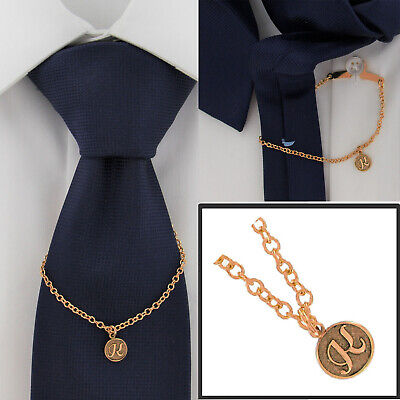 $21.21 • Buy Ky & Co Initial K Rose Gold Tone Tie Chain Button Hole Attachment 7.5  USA Made